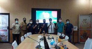 Kadispora Sumsel, H Ahmad Yusuf Wibowo saat menerima audiensi pengurus SIWO Sumsel, Kamis (16/9)