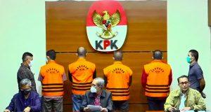 Konferensi Pers OTT KPK di wilayah Pemkab Muba, Sabtu (16/10) sore