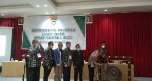 Konferwil Luar Biasa IPPAT Sumsel periode 2021-2024, Sabtu (16/10)